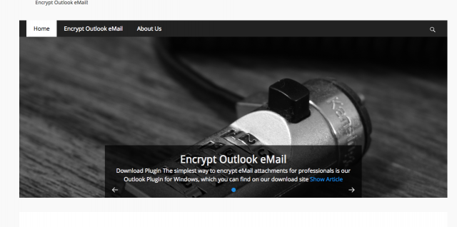 Encrypt mails with outlook